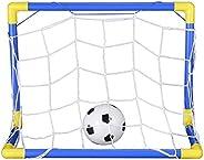 Yugust Mini Soccer Goal Post Net Set, Portable Detachable Football Target Net for Kids Sport Training Home Gam