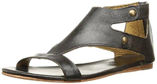 BED:STU Bed STU Women's Soto Flat Sandal Black Rustic 3LCbhTUmdG