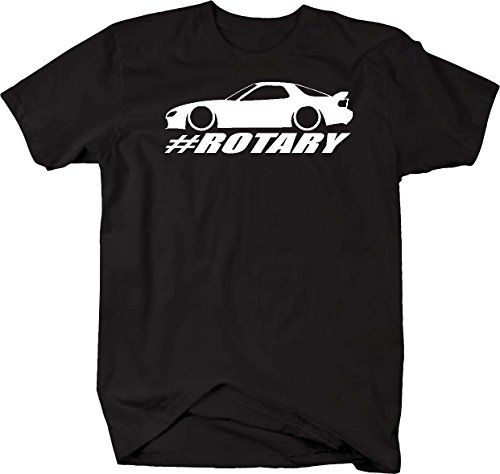 (Mazda RX-7 Lowered Custom Rotary Engine Racing Mens T Shirt - Large)