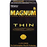 Trojan MAGNUM Thin Ultrasmooth Lubricant Condoms, 12 count