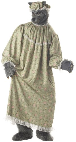 (California Costumes Men's Wolf Granny Costume,Green,One)