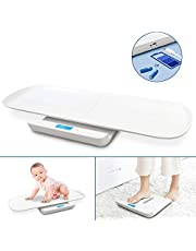 Leogreen Baby Weight Scale USB Charging, Multi-Function Digital Weight Scale, Scales for Body Weight, Pet Scale, Infant Scale, Toddler Scale with Tape Measure & Battery, Max 220lbs