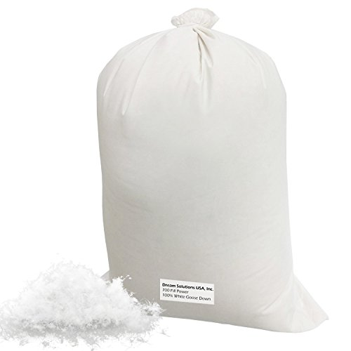 Form Filling (Bulk Goose Down Filling (1/2 lb.) 700 Fill Power – 100% Natural White, No Feathers – Fill Comforters, Pillows, Jackets and More – Ultra-Plush Hungarian Softness - Dream Solutions USA Brand)