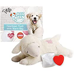 ALL FOR PAWS AFP Snuggle Sheep Pet Behavioral Aid Toy Plush Toy (Heartbeat + WarmBag)