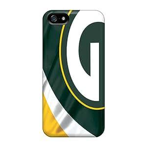 Iphone 5/5s Green Bay Packers Print High Quality Tpu Gel Frame Case Cover