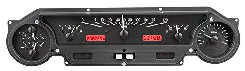 DAKOTA DIGITAL 64 65 Ford Falcon & Mustang Analog Dash Gauges Black Alloy Red VHX-64F-FAL-K-R