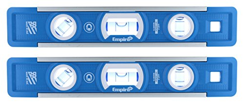Empire EM81.9 True Blue 9-Inch Heavy-duty Magnetic Aluminum Torpedo Level (Twin Pack)