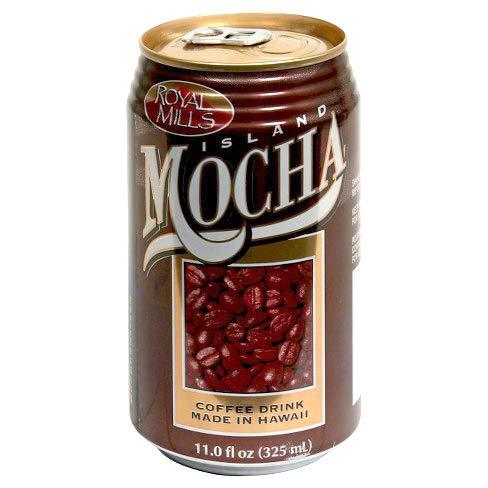 Royal Mills Island Mocha Coffee Drink, Coffee Drink Made In Hawaii, Ready to Drink - 11 Fl Oz | Pack of 24