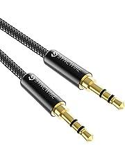 Syncwire Cavo Aux 3,5mm in Nylon 1M Cavo Jack per Cuffie, Apple iPhone, iPad, iPod, Smartphone, Autoradio, MP3, Echo DOT ECC - Nero