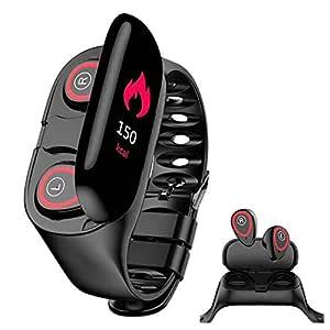 WXYIN Reloj Inteligente con audífonos Bluetooth, Banda de ...