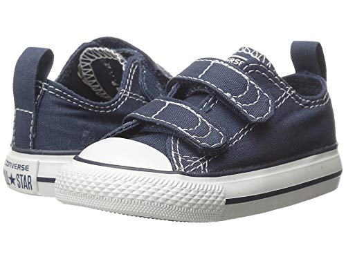 Converse Kids' Chuck Taylor All Star 2v Low Top Sneaker Navy-White