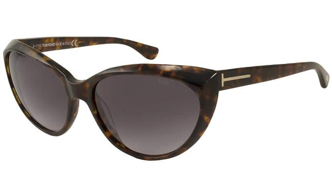 369d9b2f04745 Tom Ford Sunglasses - Martina   Frame  Shiny Dark Havana Lens  Plum ...