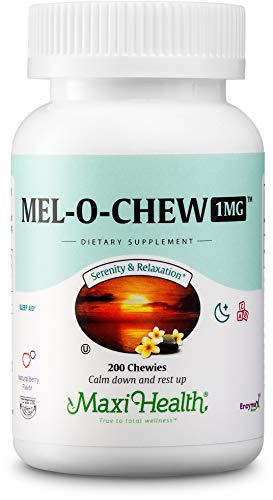 Mel-O-Chew Melatonin for Kids - 1mg Chewable Sleep Aid Tablets - Natural Supplement for Children And Adults - Helps Fall Asleep Faster And Stay Sleeping Longer - 200 ()