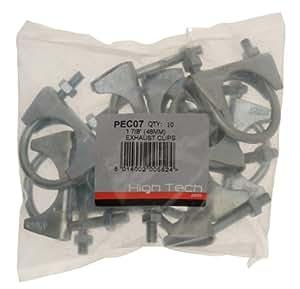 """Pearl PEC07 - Abrazaderas para tubos de escape (1,7/8"""", 18 x 14 x 7 cm, 10 unidades)"""