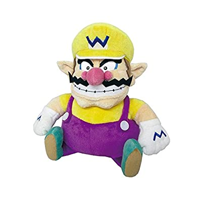"Little Buddy Super Mario All Star Collection 1421 Wario Stuffed Plush, 10"",Multi-Colored: Toys & Games"