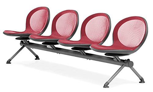 (OFM NB-4-RED Net Series Beam Seating with 4 Chairs,)