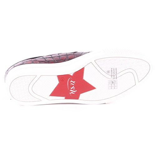 Ash Karma Cardinal Patent Congo Damen Platform Trainers Red Black
