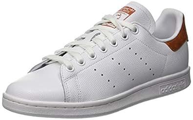 adidas Men's Stan Smith Sneaker, FTWR White/Fox Red, 7.5 UK