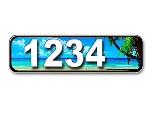 Beach Curb Address Plaque, Reflective