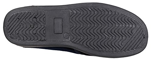 Mirak Mens Andy Slip On Gusseted Soft Padded Velvet Slipper Navy
