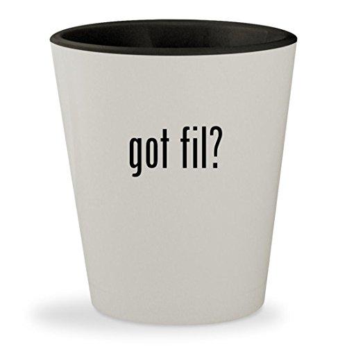 got fil? - White Outer & Black Inner Ceramic 1.5oz Shot Glass