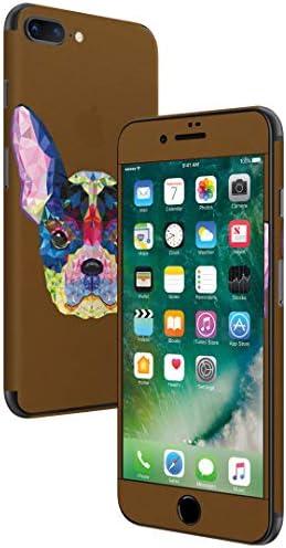 igsticker iPhone SE 2020 iPhone8 iPhone7 専用 スキンシール 全面スキンシール フル 背面 側面 正面 液晶 ステッカー 保護シール 007392 ユニーク 犬 カラフル 茶色 ブラウン