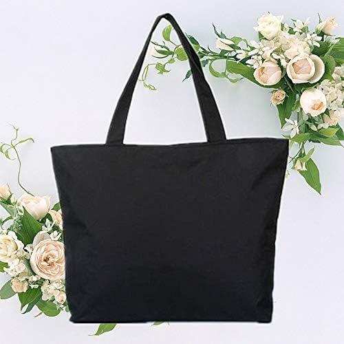 Khaki Scrox 1pcs Bolsas de Tela Cremallera Tote Bag Original Color s/ólido Bandolera Mujer Bolsa Reutilizable Compra Bolsa de Almacenamiento