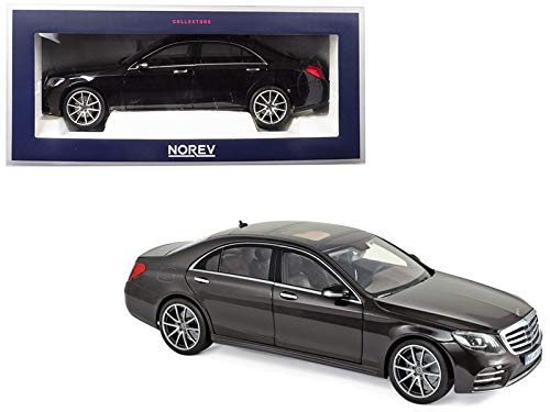 2018 Mercedes Benz S Class AMG Line Ruby Black Metallic 1/18 Diecast Model Car by Norev 183483