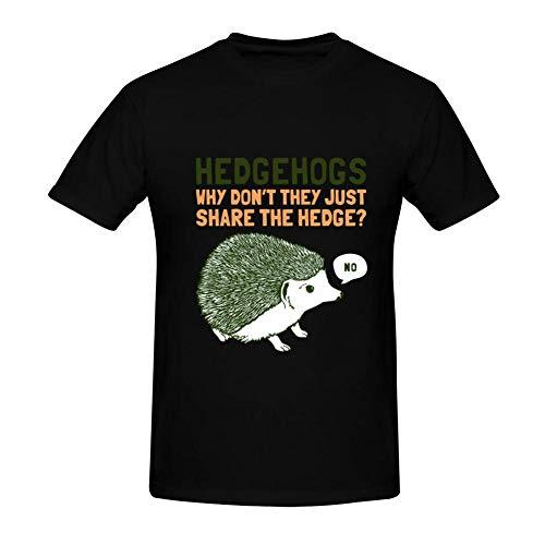YYFESX Hedgehogs Can't Share Men's Cotton T Shirts 3D Printed Shirts Short Sleeve Summer Tee M