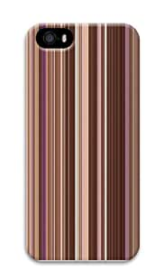 Brown Vertical Stripes Polycarbonate Hard Case Cover for iPhone 5/5S 3D