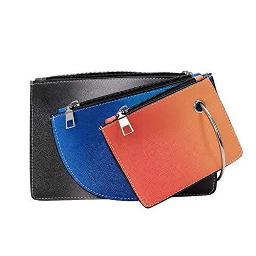 pollyhb Handbag, Women Creative Colorblock Card Holder Clutch Trendy Colouring Totes Bag Ladies Mini Handbag Wallet