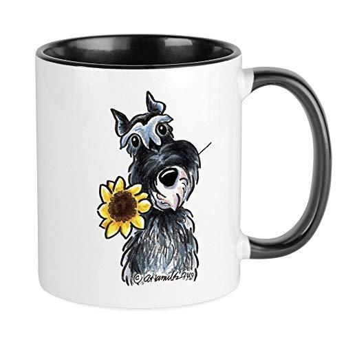 CafePress Sunflower Schnauzer Mug Unique Coffee Mug, Coffee Cup