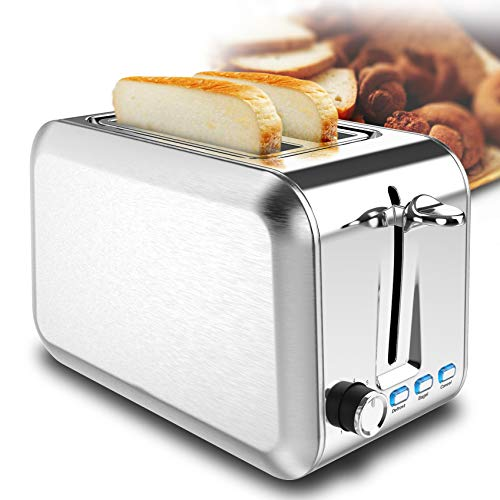 2 Slice Toaster Stainless Steel Toaster Best Rated Prime Toasters with 7 Shade Settings Reheat bagel Cancel Function and…
