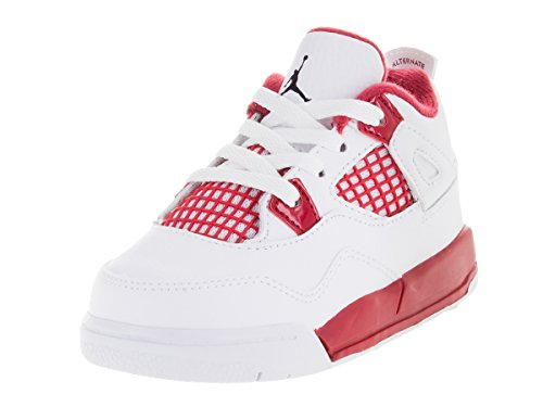 AIR JORDAN [308500-106] 4 Retro (TD) Infants Shoes White Black Gym Red