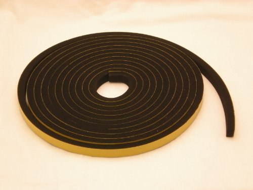 Neoprene Rubber self adhesive strip 5/8'' wide x 1/2'' thick x 16 feet long