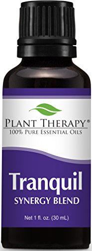Plant Therapy Tranquil Synergy Essential Oil Blend. 100% Pure, Undiluted, Therapeutic Grade. Blend of: Bergamot, Patchouli, Blood Orange, Ylang Ylang and Grapefruit. 30 mL (1 Ounce).