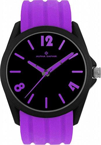 Jacques Lemans 380K - Wristwatch unisex, silicone, color: viola