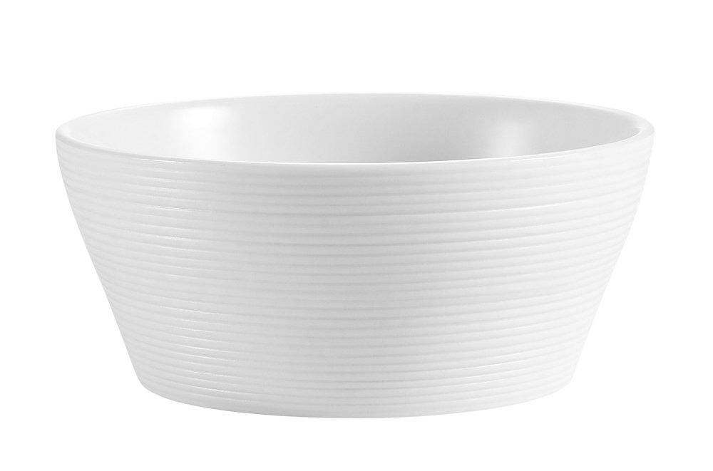 CAC China TST-B7 Transitions 7-Inch 40-Ounce Non-Glare Glaze Super White Porcelain Bowl, Box of 24