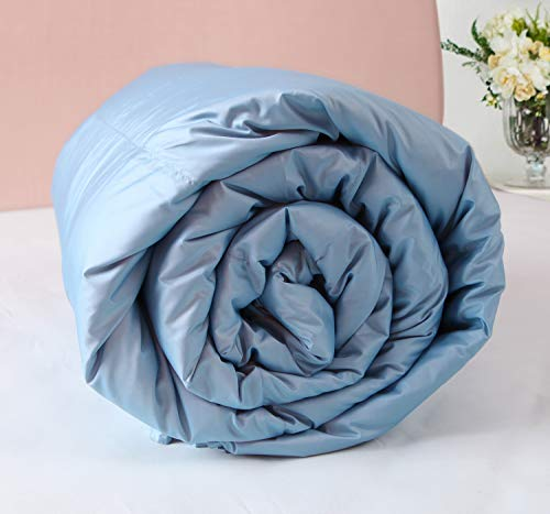 Down Quilt for Summer, Ultra Soft Duck Down Comforter for All Season, Cooling &Hypoallergenic Down Alternative Fill Quilted Duvet Insert, Fluffy & Lightweight. (Blue, Queen) (Non Down Comforter Allergenic)