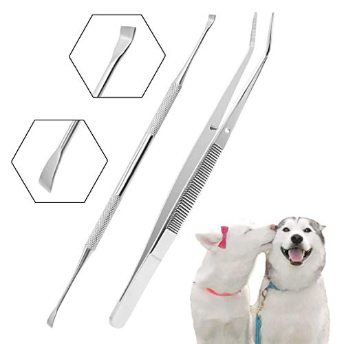 TANTAI_CARE Pet Dental Care Tools. Scraper and Tweezers Set/Dog Scaler Remover Tools for Dog and Cat.