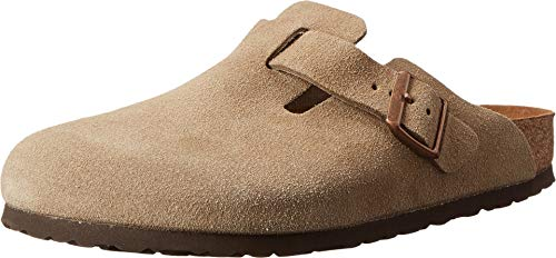Birkenstock Boston Soft Footbed (Unisex) Taupe Suede 37 (US Women's 6-6.5) Narrow
