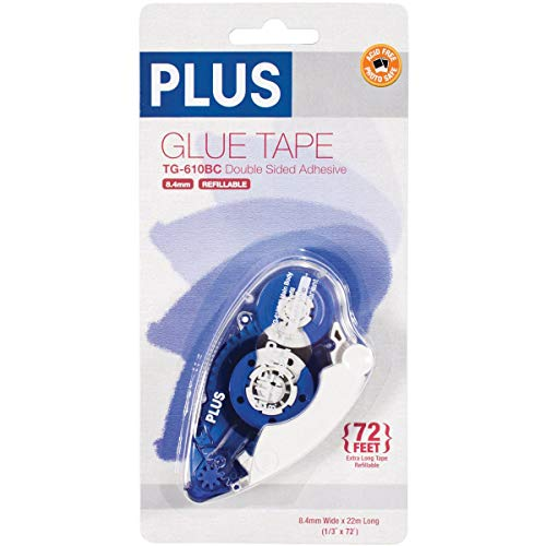 Plus Corporation Plus High Capacity Glue Tape Dispenser, 0.33-Inch by 72-Feet ()