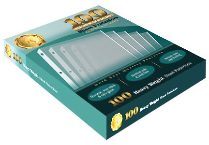 100 Clear Heavyweight Poly Sheet Protectors by Gold Seal, 8.5'' x 11'' by Gold Seal (Image #3)