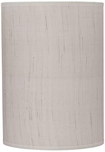 Ivory Linen Drum Cylinder Shade 8x8x11 (Spider) - Brentwood ()