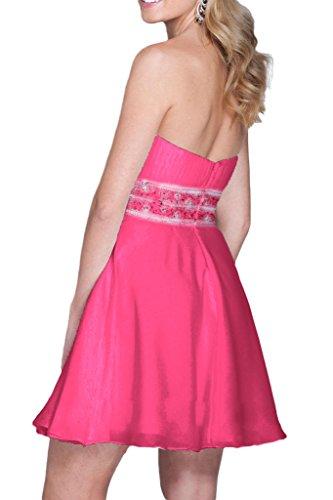 Charmant Damen 2016 Neu Model Chiffon pink Cocktailkleider Partykleider Tanzenkleider Mini A-linie Neu