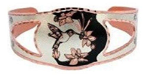 Copper Cuff Hummingbird fly Unisex Bracelet Southwest Design Origin.