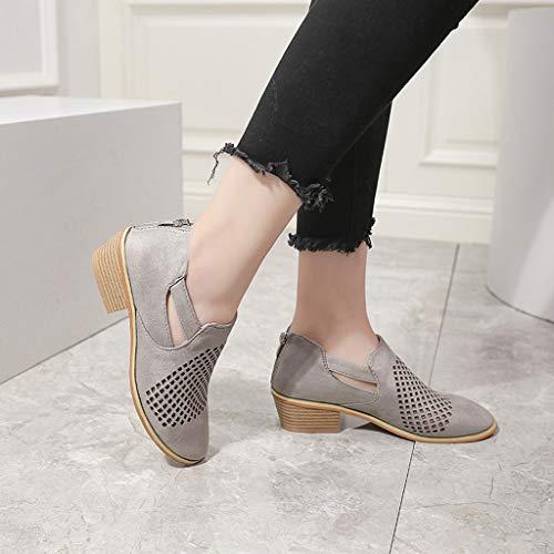 Courtes Bottes Gris Des Kaiki Cuir La En Cheville chaussures Printemps Femme 43 De Chaussures Botte taille Hiver Creux Femmes 35 ZZ61H