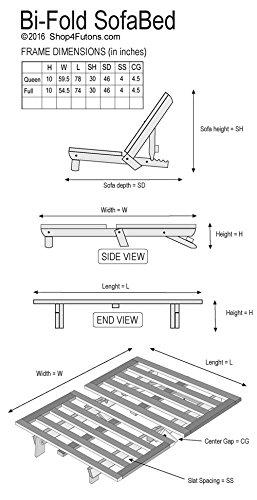 Amazon.com: Bi-fold Hardwood Futon Frame - Full Size: Kitchen & Dining