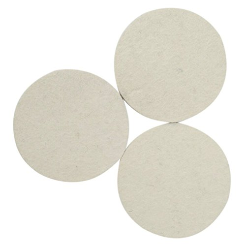 Kicpot Wool Felt Disc Polishing Pads and Backing Pad with M14 Drill Adapter Kit to Grind and Polish Glass Plastic Metal Marble by Kicpot (Image #5)