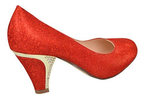 Chic Feet , Sandales Compensées femme red